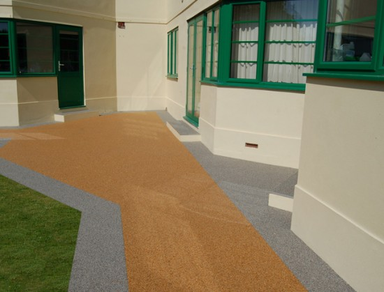 Clearstone restored resin paths for Art Deco home