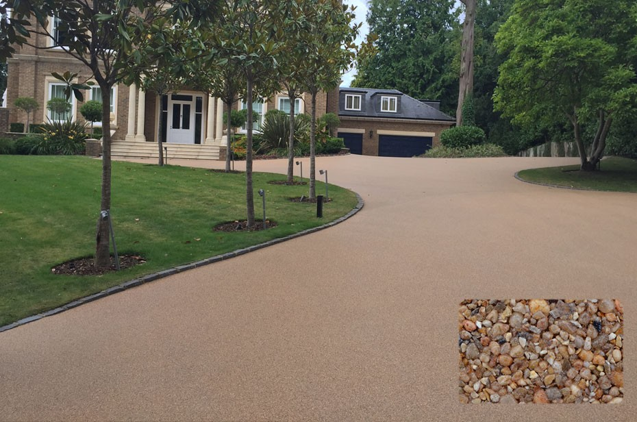 Chesil driveway for Weybridge home