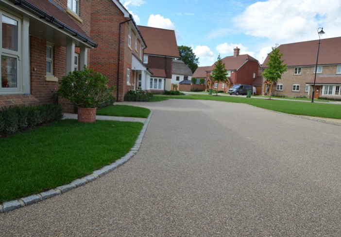 Clearstone installs resin bound for Berkeleys Homes The Ash Miles at Barns Green, Sussex