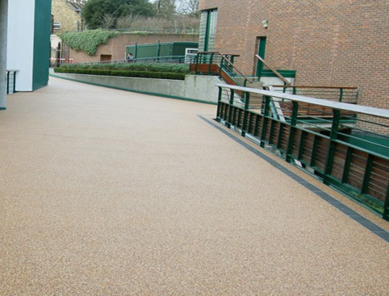 Resin bound surfacing at Wimbledon Tennis Club