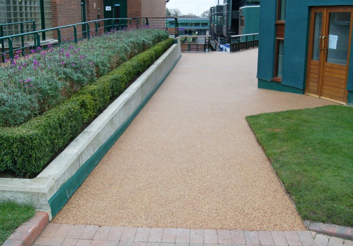 Resin pavement at Wimbledon tennis club