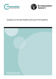 Guidance on the permeable surfacing of front gardens (cover)