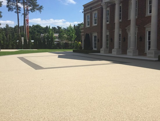 Resin driveways at Lanesborough House, Wentworth