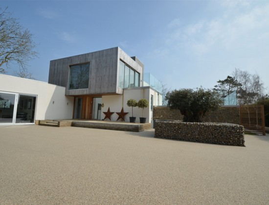 Clearstone resin bound paths for Frosts Landscape garden design for the Saltmarsh house, Norfolk