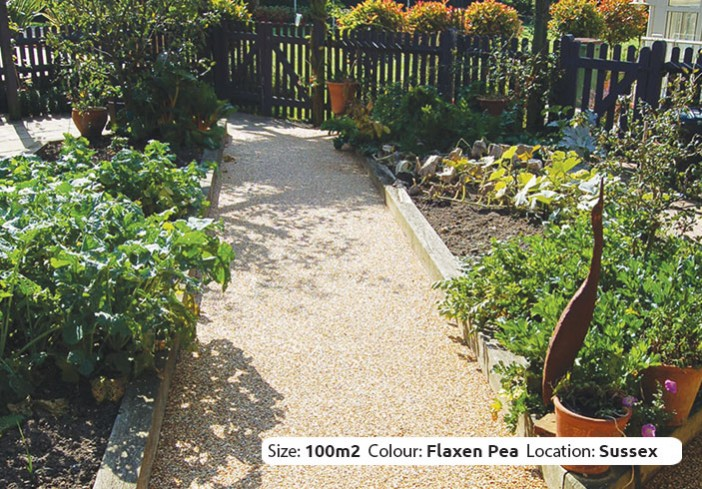 Resin Bound Paths in Flaxen Pea colour, West Chiltington, Sussex