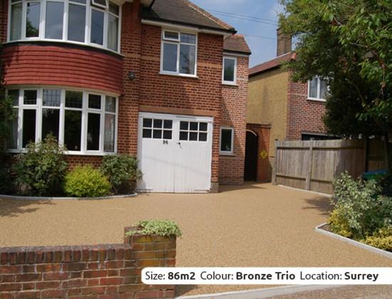 Resin Bound Driveway in Bronze Trio colour, Hampton, Surrey