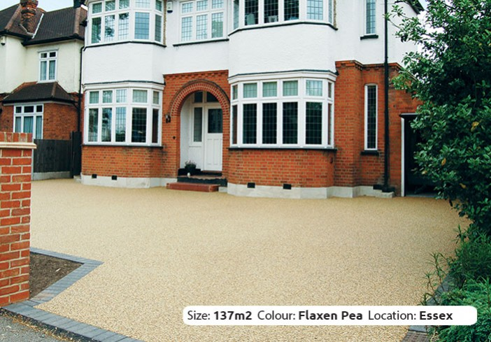 Resin Bound Driveway in Flaxen Pea colour, Upminster, Essex
