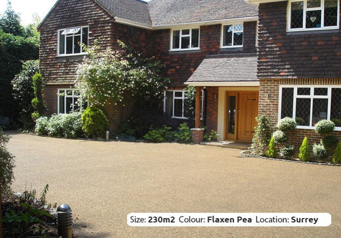 Resin Bound Driveway in Flaxen Pea colour, Cobham, Surrey by Clearstone
