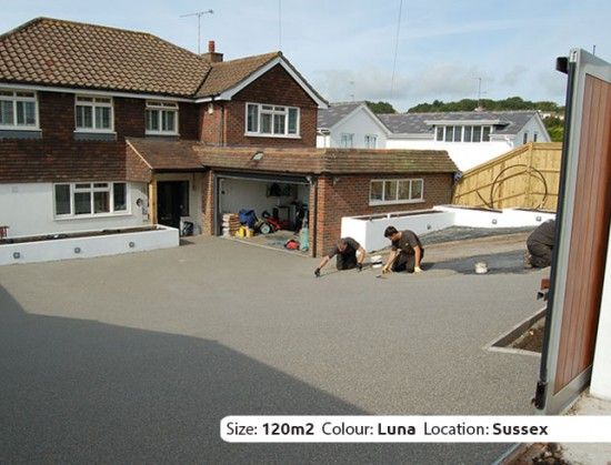 Resin Bound Driveway in Luna colour, Hove, Sussex by Clearstone