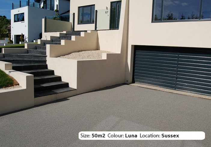 Resin Bound Driveway in Luna colour, Hove, Surrey by Clearstone