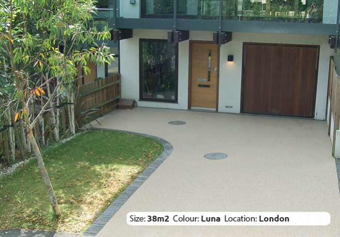 Resin Bound Driveway in Luna colour, Wimbledon, London by Clearstone