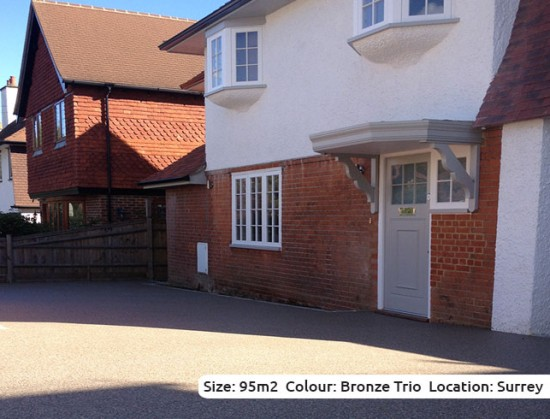Resin Bound Driveway in Bronze Trio colour, Walton-on-Thames, Surrey
