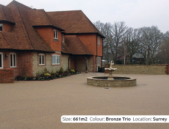 Resin Bound Driveway in Bronze Trio colour, Billingshurst, Sussex by Clearstone