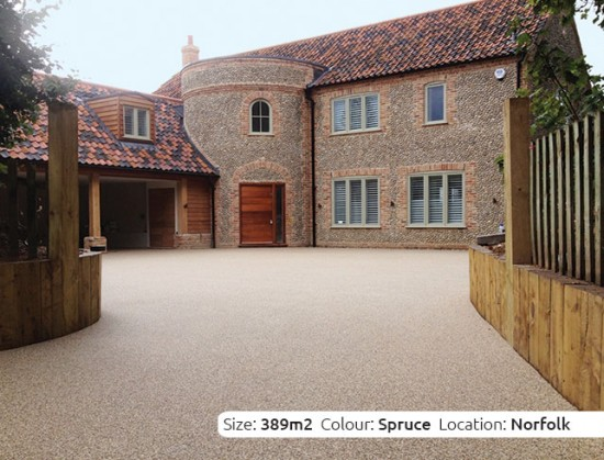 Resin Bound Driveway in Spruce colour, Burnham Market, Norfolk by Clearstone