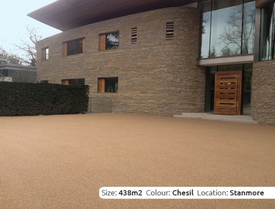 Resin Bound Driveway in Chesil colour, Stanmore, London by Clearstone