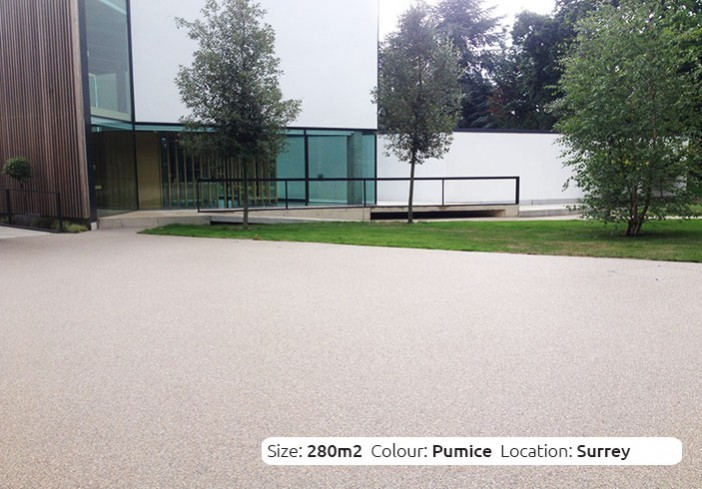 Resin Bound Driveway in Pumice colour, Epsom, London by Clearstone