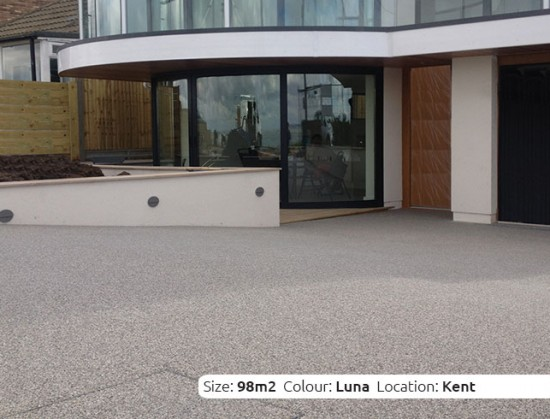 Resin Bound Driveway in Luna colour, Whitstable, Kent by Clearstone