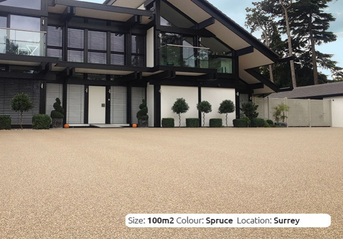 Resin Bound Driveway in Spruce colour, Fetcham, Surrey by Clearstone