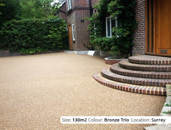 Resin Bound Driveway in Bronze Trio colour, Guilford, Surrey by Clearstone