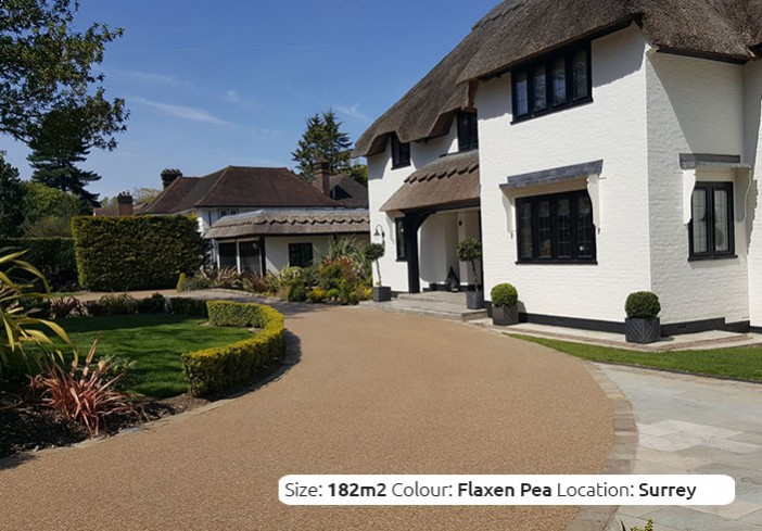 Resin Bound Driveway in Flaxen Pea colour, Orpington, Kent by Clearstone