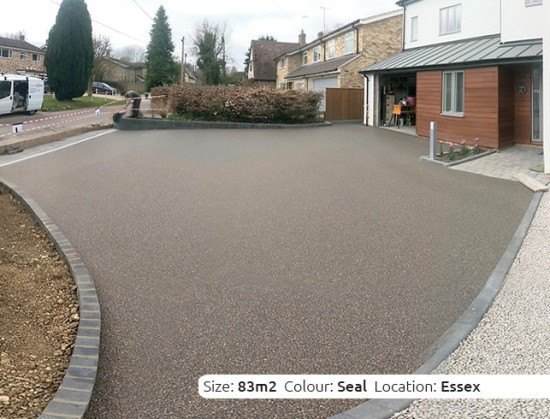Resin Bound Driveway in Seal colour, Wendens Ambo, Essex