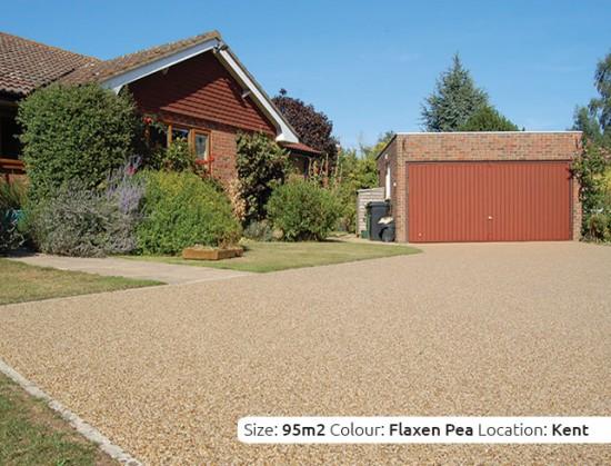 Resin Bound Driveway in Flaxen Pea colour, Nr. Sevenoaks, Kent