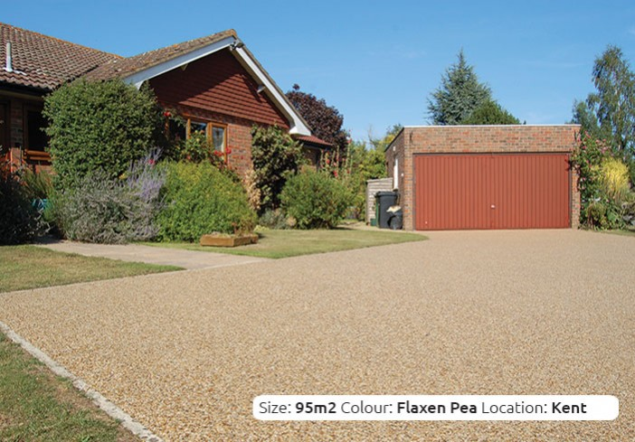 Resin Bound Driveway in Flaxen Pea colour, Nr. Sevenoaks, Kent