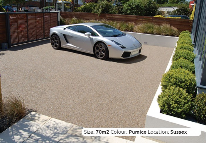 Resin Bound Driveway in Pumice colour, Hove, Sussex