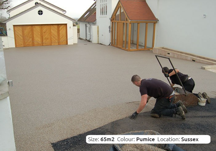 Resin Bound Driveway in Pumice colour, Ditchling, Sussex