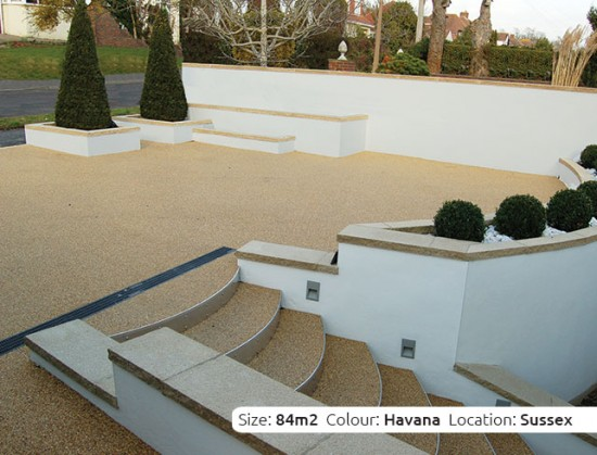 Resin Bound Driveway in Havana colour, Lancing, Sussex