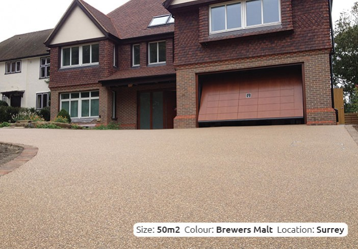 Resin Bound Driveway in Brewers Malt colour, Reigate, Surrey