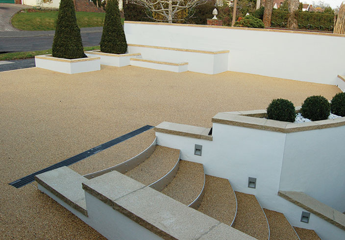 Resin Bound Gravel Driveway in Havan colour, Lancing, Sussex installed by Clearstone