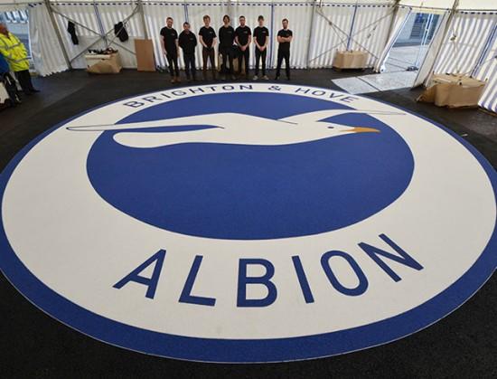 B&H Albion Seagull logo - Amex Community Stadium Brighton