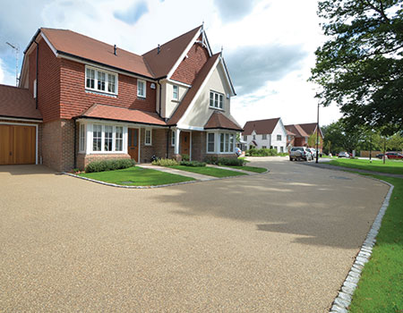resin bound permeable roadway