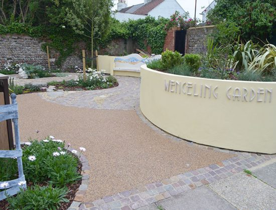 Resin paths for Wenceling Sensory Garden, Lancing, West Sussex