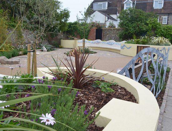 Wenceling community Sensory Garden, Lancing, West Sussex