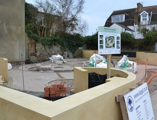 Resin bound colour for Wenceling community Sensory Garden, Lancing, West Sussex