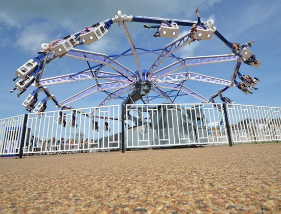 Dreamland Amusement Park, Margate, resin bound pathways for DreamCatcher ride
