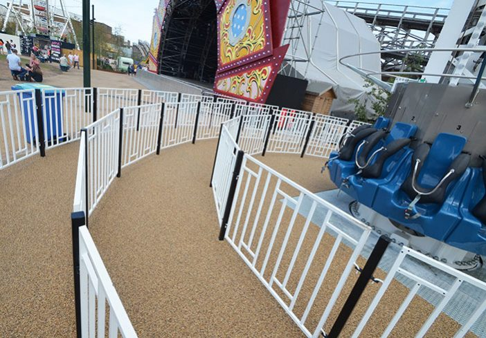 Dreamland Drop resin bound pathways for amusement park rides, Margate