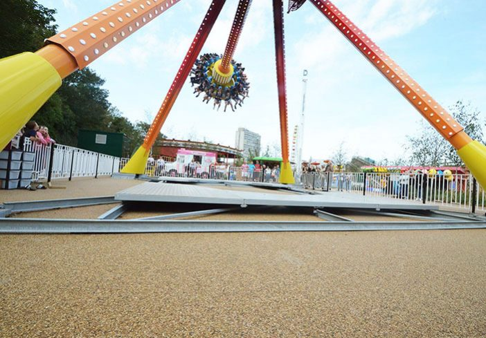 Dreamland Pendulum resin bound pathways for amusement park rides, Margate