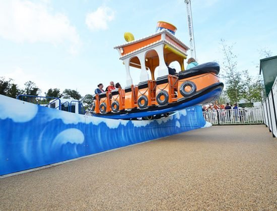 Dreamland Tug Boat ride -resin bound pathways for amusement park paths, Margate
