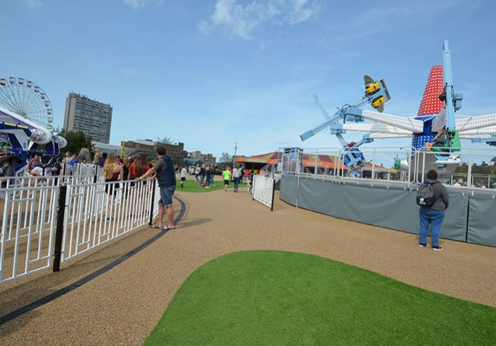 Dreamland Amusement Park. Margate - permeable resin bound pathways for landscape areas