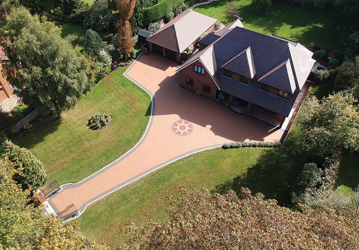 Resin bound gravel driveway, Henley on Thames, Oxfordshire
