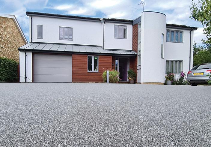 Resin bound gravel driveway, Wendens Ambro, Essex