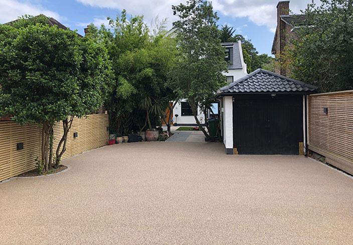 Resin bound gravel driveway, Wimbledon, London